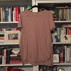 Orange and white striped Old Navy tunic tee
